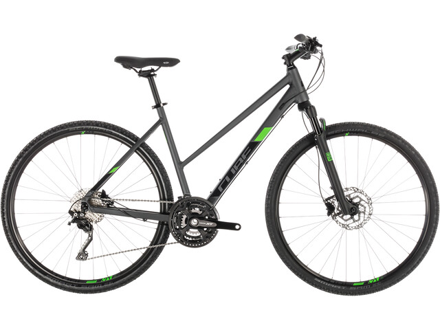 Cube Cross Pro Hybridcykel Trapez grå